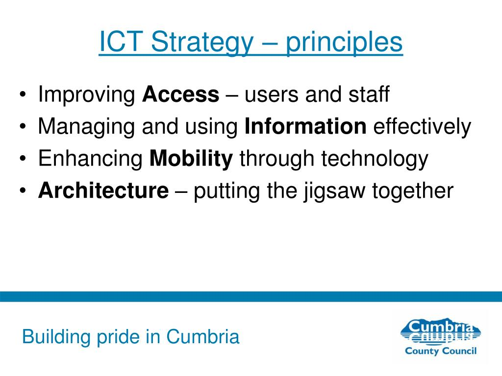 ICT Strategy – principles