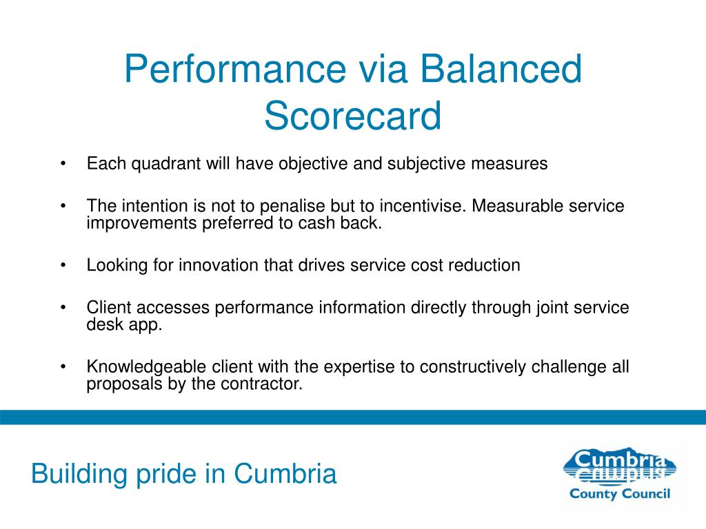Performance via Balanced Scorecard
