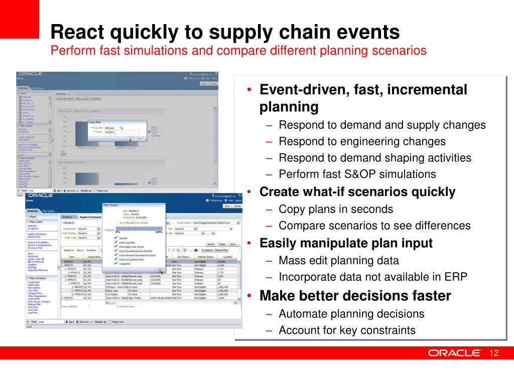 React quickly to supply chain events