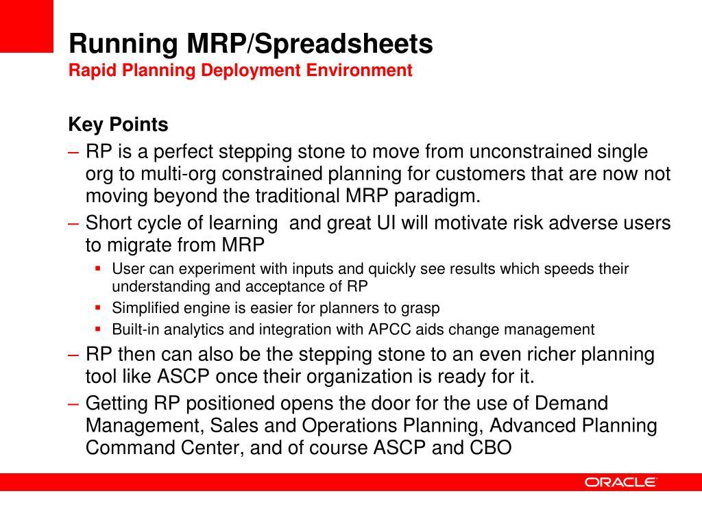Running MRP/Spreadsheets
