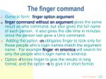 the finger command
