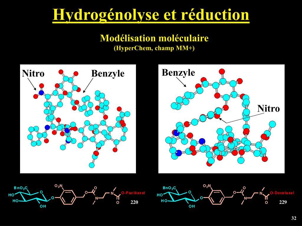 Hydrogénolyse et réduction