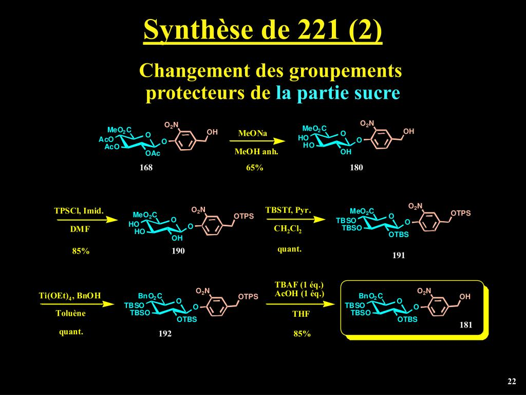 Synthèse de 221 (2)