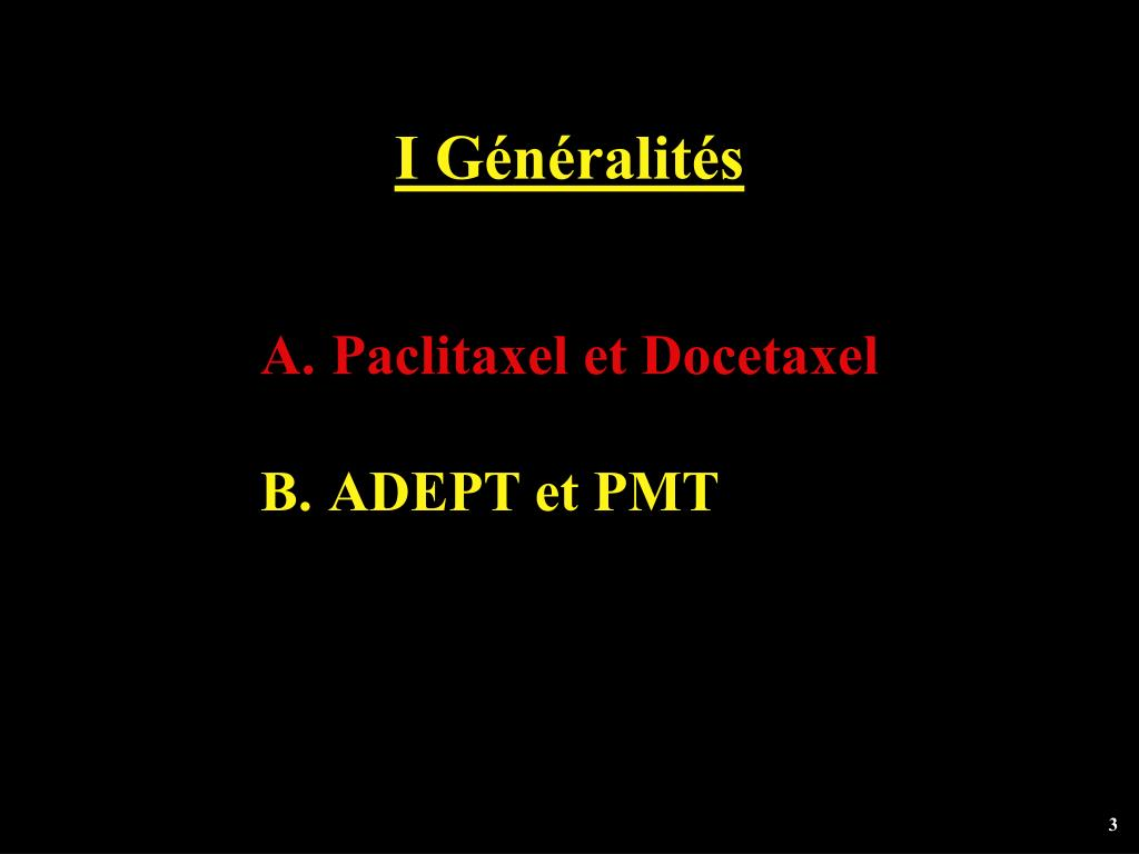 I Généralités