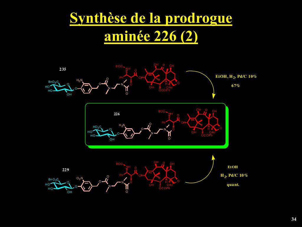Synthèse de la prodrogue
