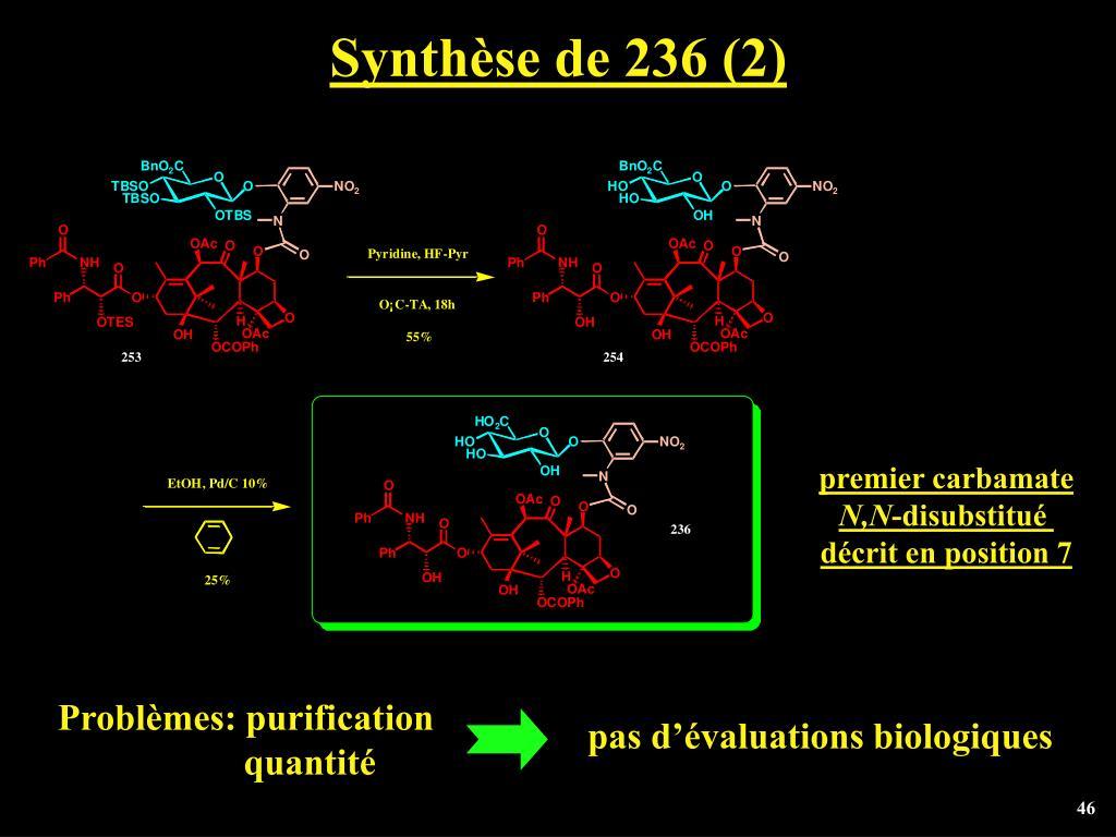 Synthèse de 236 (2)