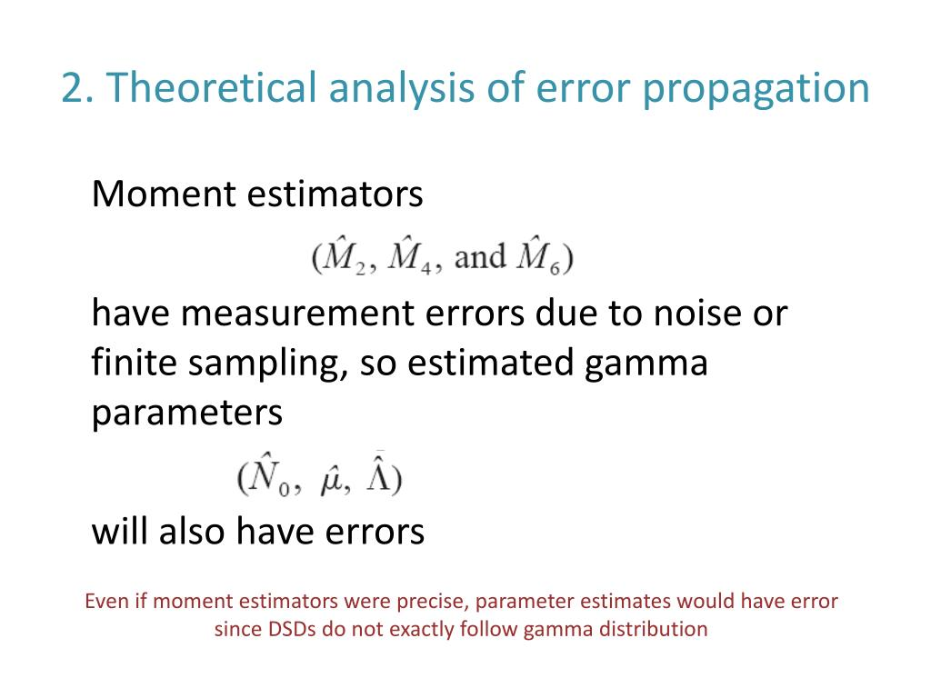 2. Theoretical analysis of error propagation