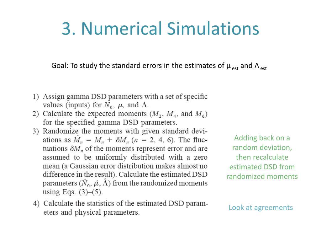 3. Numerical Simulations