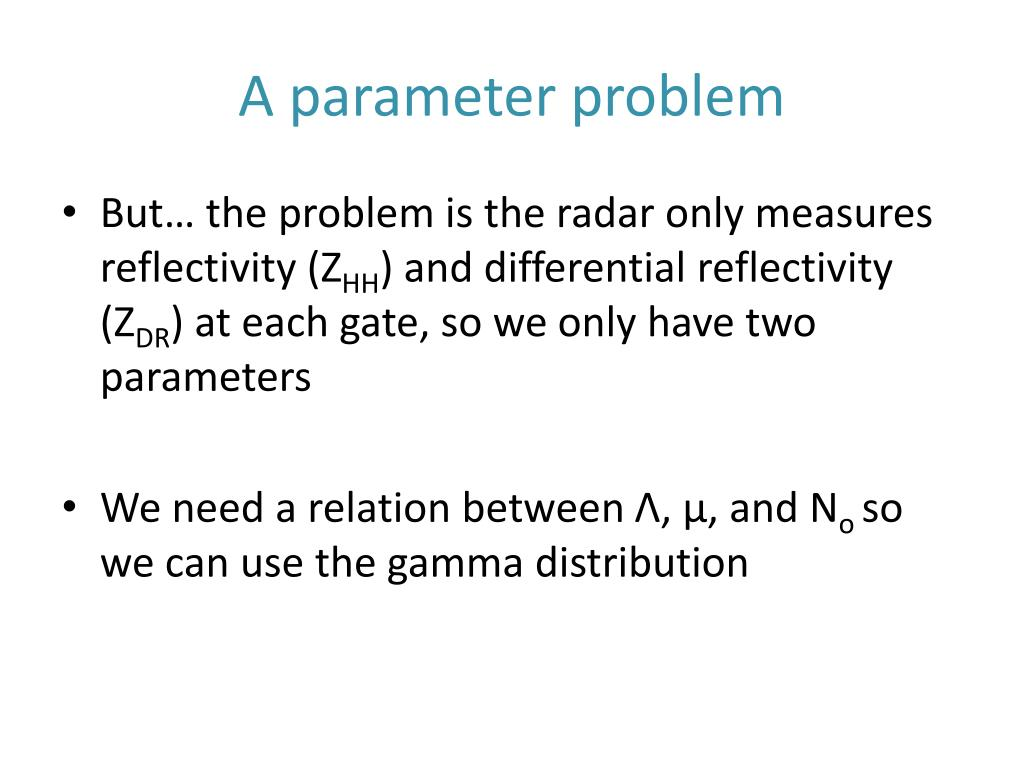 A parameter problem