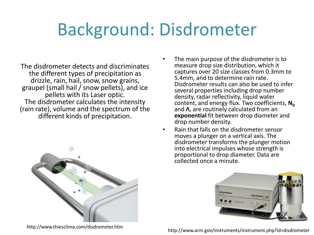 Background: Disdrometer