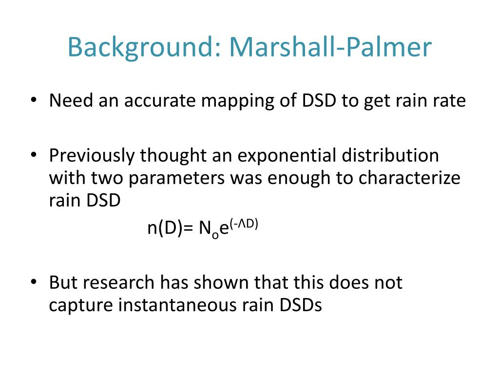 Background: Marshall-Palmer