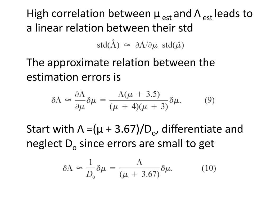 High correlation between