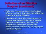 definition of an effective program continued