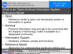 what is an open archival information system reference model
