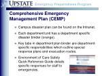 comprehensive emergency management plan cemp