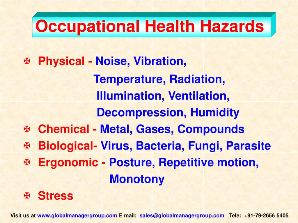 Occupational Health Hazards