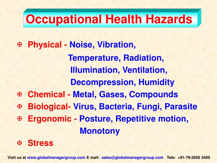 Occupational health hazards l.jpg