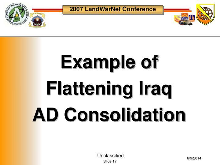 Example of Flattening Iraq