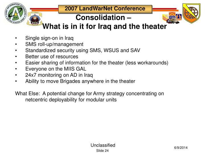 Consolidation –