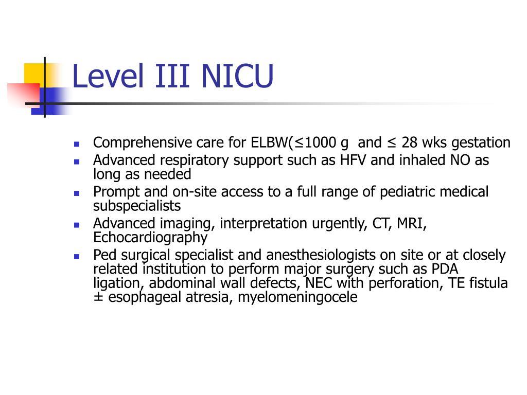 Level III NICU