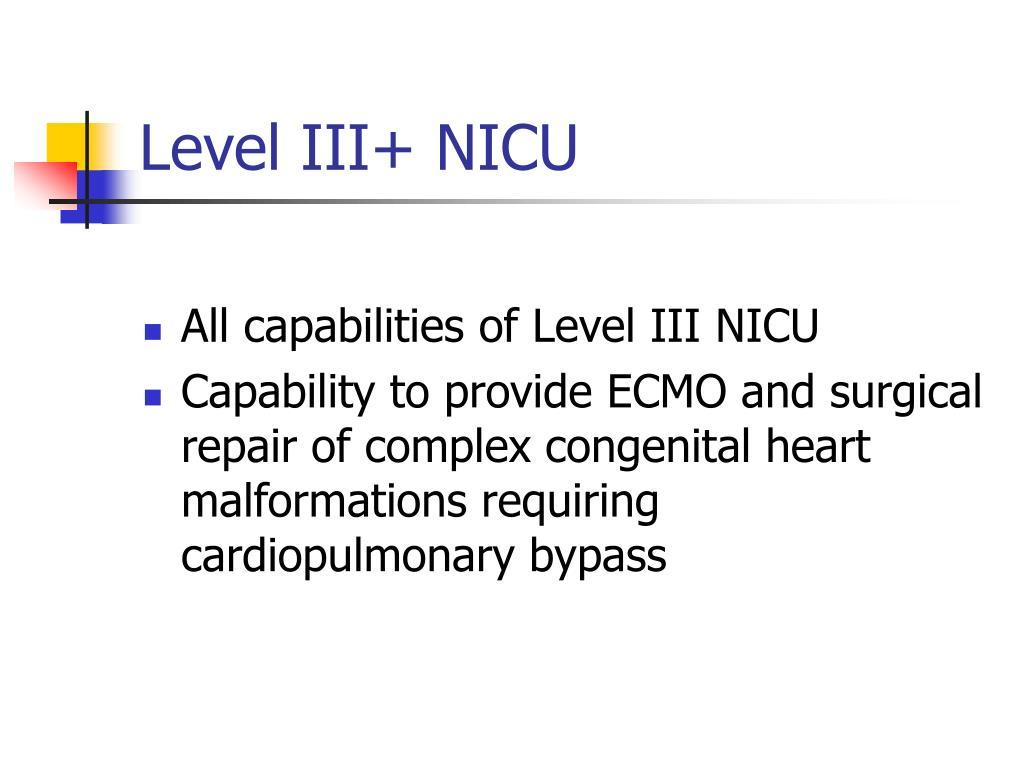 Level III+ NICU