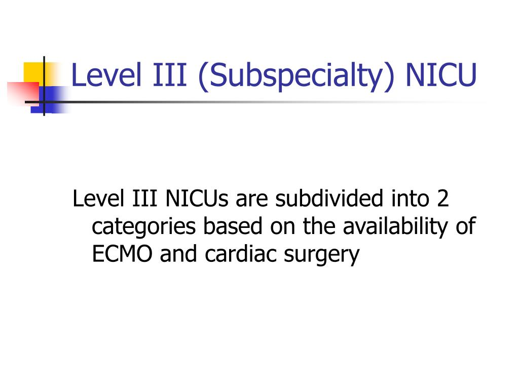 Level III (Subspecialty) NICU
