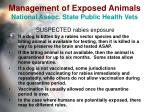 management of exposed animals national assoc state public health vets22