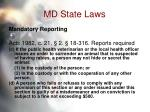 md state laws55