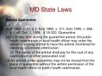md state laws61