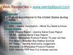 web resources www wendyblount com