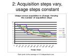2 acquisition steps vary usage steps constant
