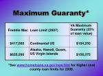 maximum guaranty