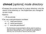 chmod options mode directory