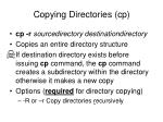 copying directories cp