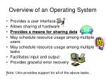 overview of an operating system