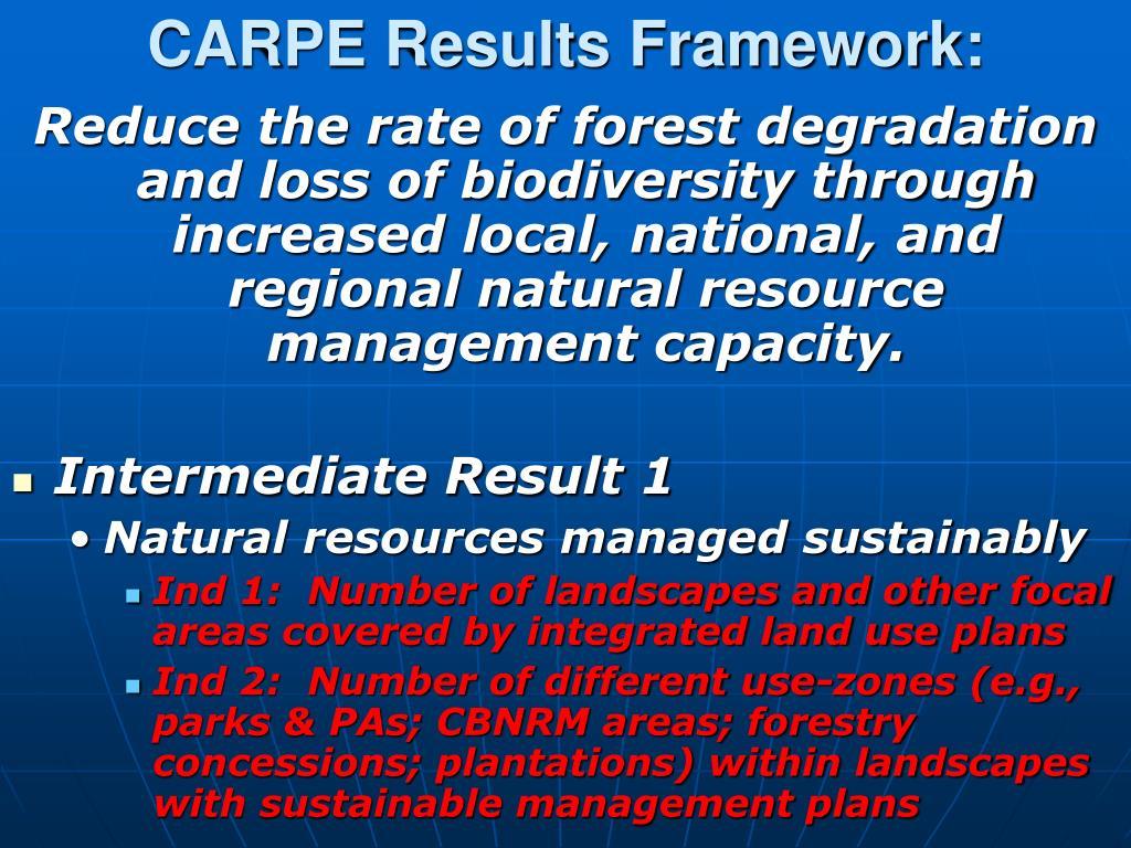 CARPE Results Framework: