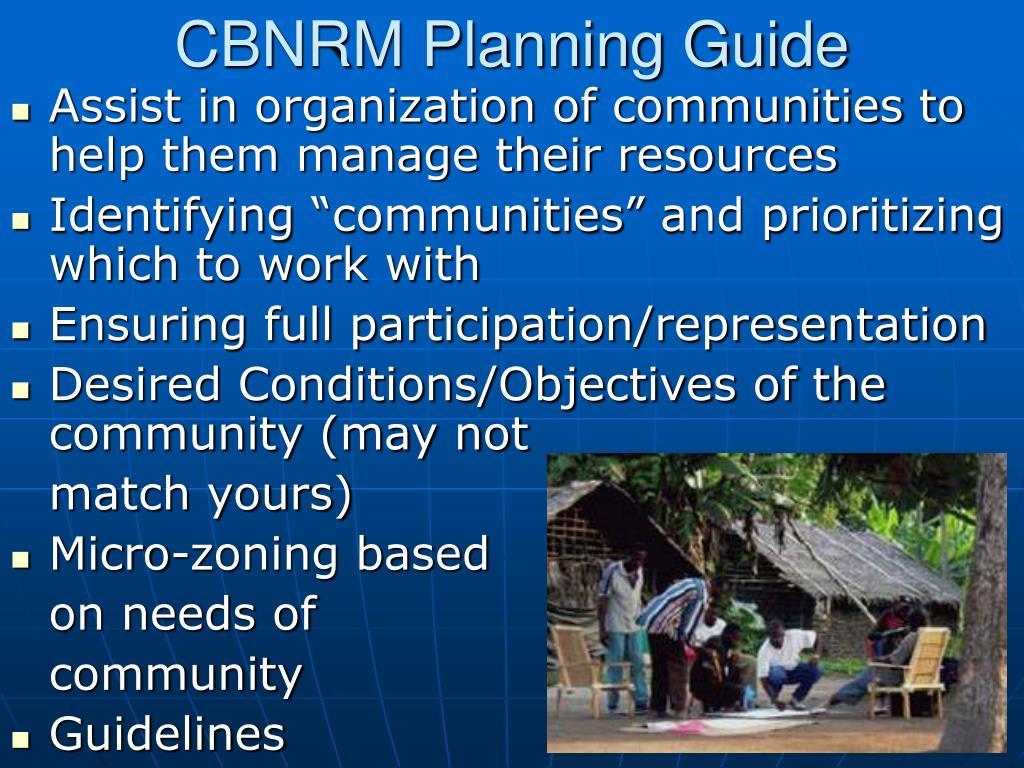 CBNRM Planning Guide