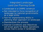 integrated landscape land use planning guide