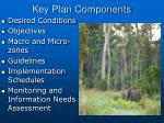key plan components