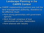landscape planning in the carpe context12