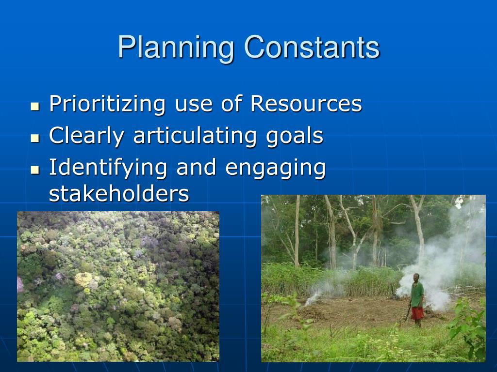 Planning Constants