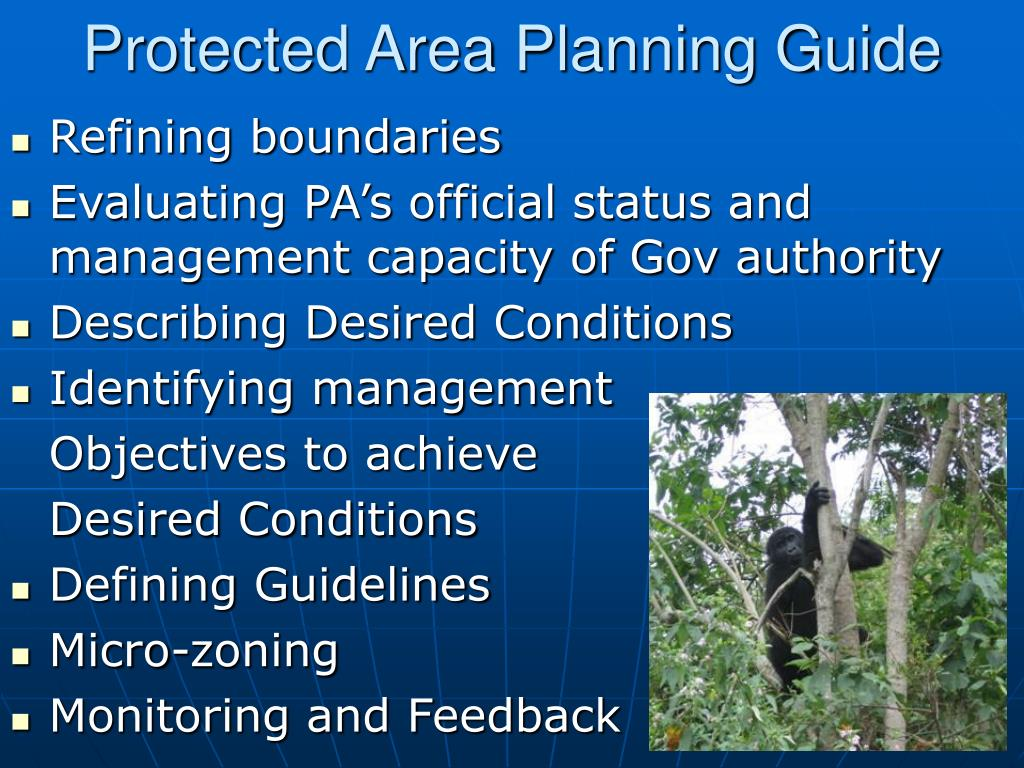 Protected Area Planning Guide