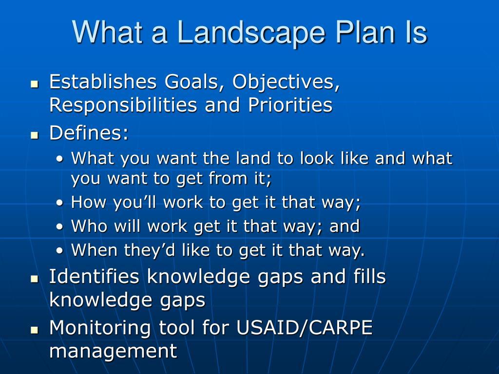 What a Landscape Plan Is