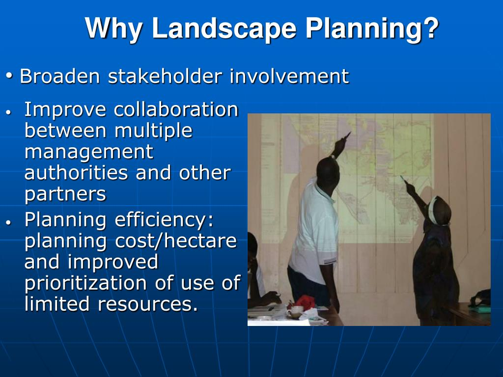 Why Landscape Planning?