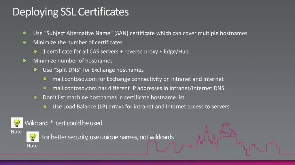 Deploying SSL Certificates