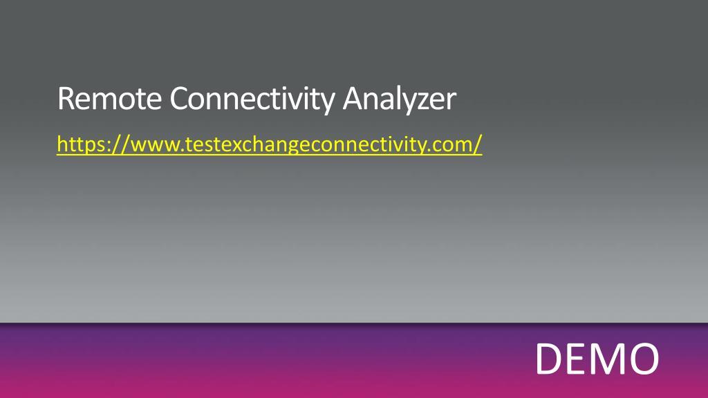Remote Connectivity Analyzer