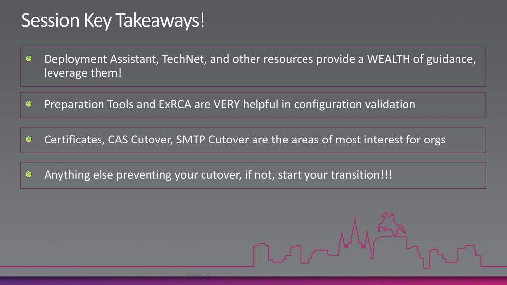 Session Key Takeaways!