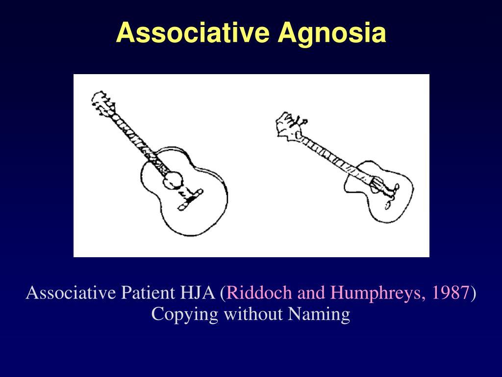 Associative Agnosia