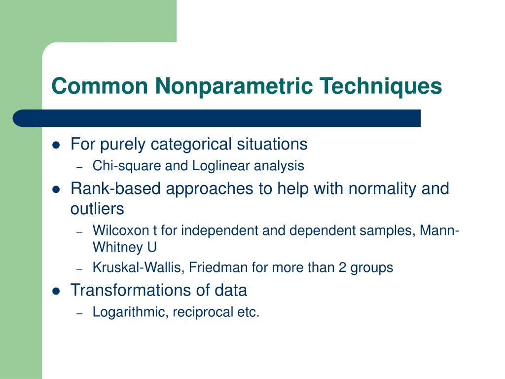 Common Nonparametric Techniques