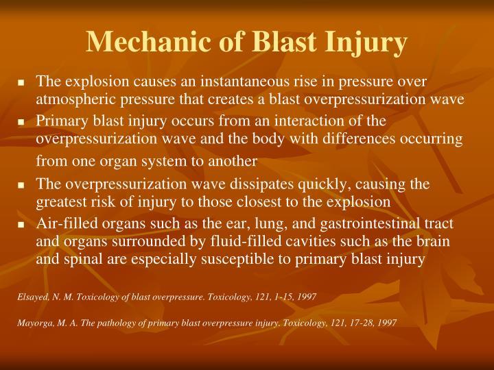Mechanic of Blast Injury